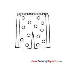 Pants for Children free Coloring Pages