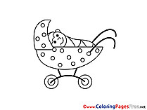 Pram download printable Coloring Pages