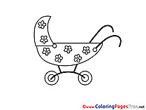 Pram printable Coloring Pages for free