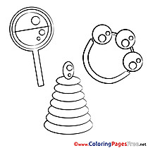 Pyramid Children Coloring Pages free