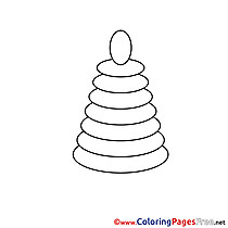 Pyramid Colouring Sheet download free
