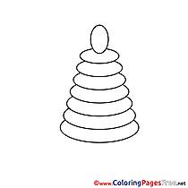 Pyramid Colouring Sheet download free