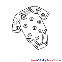 Shirt Baby for Kids printable Colouring Page