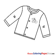 Shirt download Colouring Sheet free
