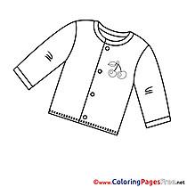 Shirt download Colouring Sheet free