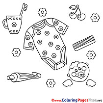 Shirt Toothbrush Baby Coloring Pages for free