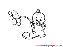 Shoe Coloring Pages for free