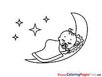 Sleep Children download Colouring Page