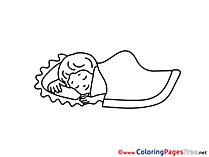Sleep Coloring Pages for free