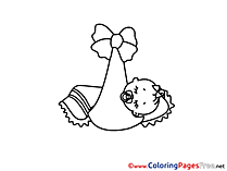 Sleep free Colouring Page download