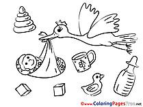 Stork Colouring Sheet download free