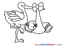 Stork Colouring Sheet download free