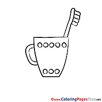 Toothbrush download printable Coloring Pages