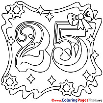 25 Years Happy Birthday Coloring Pages download