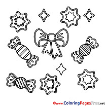 Candies Coloring Sheets Happy Birthday free