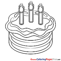 Celebration Cake Coloring Pages Happy Birthday for free