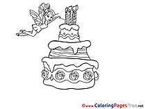 Fairy free Happy Birthday Coloring Sheets