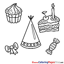 Holiday free Happy Birthday Coloring Sheets