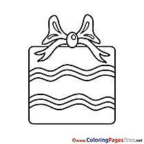 Image Gift Happy Birthday Coloring Pages free