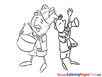 Musicians Happy Birthday Coloring Pages free
