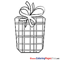 Picture Present Kids Happy Birthday Coloring Page