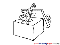 Surprise Colouring Sheet download Happy Birthday