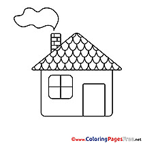 Building download Colouring Sheet free