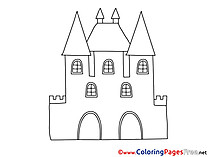 Castle for free Coloring Pages download