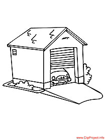 Garage coloring sheet for free