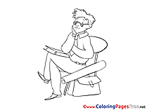 Aim download Business Coloring Pages