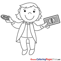 Banker printable Coloring Pages Business