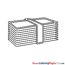Banknotes Coloring Sheets Business free