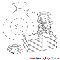 Banknotes Colouring Sheet download Business
