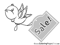 Bird Sale Coloring Sheets Business free