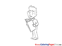 Book Man download Business Coloring Pages