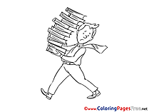 Books Colouring Sheet download Business