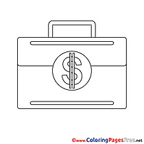 Brief Case Coloring Pages Business