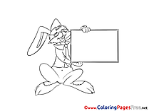 Bunny Coloring Pages Business