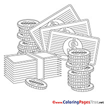 Business Coloring Pages Money