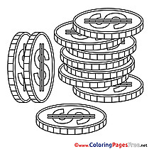 Change for Kids Business Colouring Page