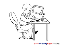 Chief free Colouring Page Business