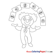 Clown Coloring Sheets Business free