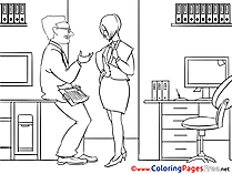 Colleagues Colouring Page Business free
