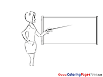 Conference Business Colouring Sheet free