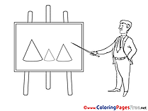 Diagram Coloring Sheets Business free