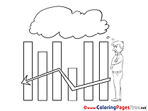 Diagram free Colouring Page Business