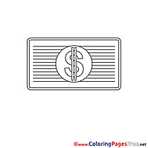 Dollar Colouring Sheet download Business