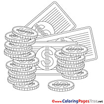 Dollars printable Coloring Pages Business