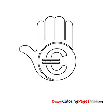 Euro printable Business Coloring Sheets