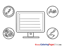 Exchange Business Coloring Pages download